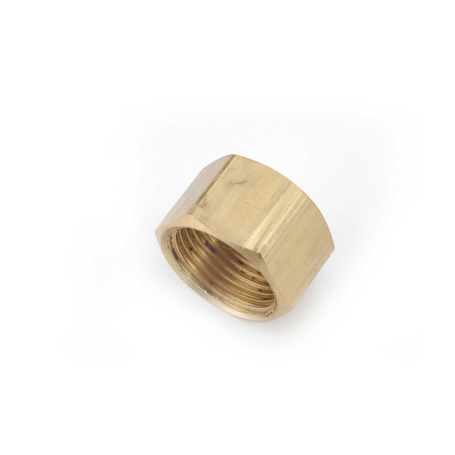 Anderson Metals Corporations  1/4 in. Compression   x 1/4 in. Dia. Compression  Brass  Cap