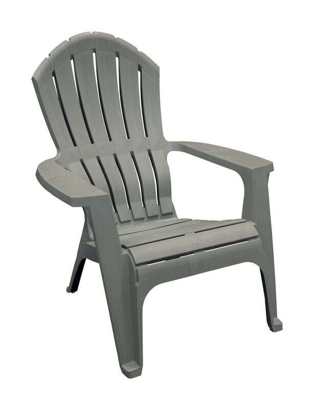 Adams RealComfort Gray Polypropylene Frame Adirondack Chair