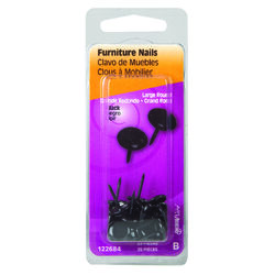 Hillman  Large   Brass-Plated  Black  Brass  Furniture Nails  25 pk