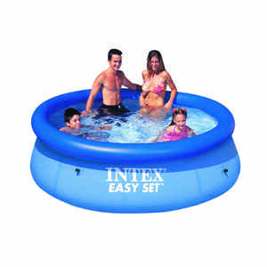 Intex  Easy Set  639 gal. Round  Plastic  Above Ground Pool  30 in. H x 8 ft. Dia.