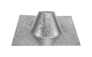 DuraVent  DuraPlus  6 in. Dia. Galvanized Steel  Adjustable Fireplace Roof Flashing