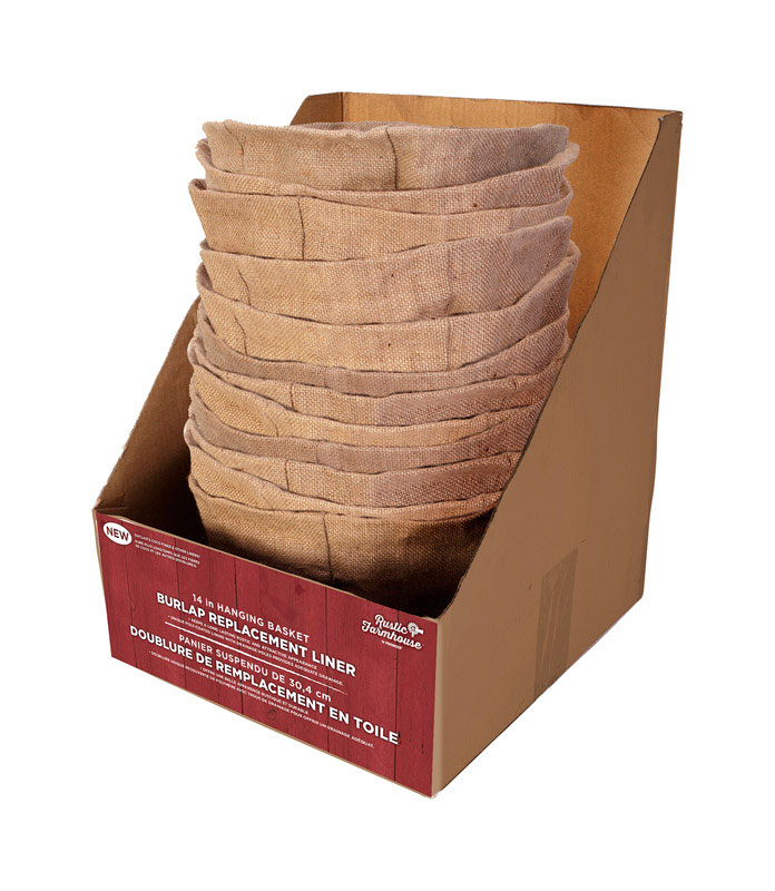 Panacea  Brown  Burlap  Basket Liner