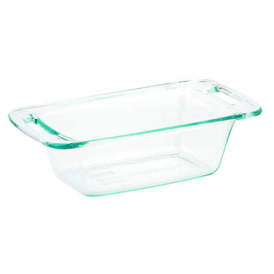 Pyrex  5-1/4 in. W x 8-3/4 in. L Loaf Pan  Clear