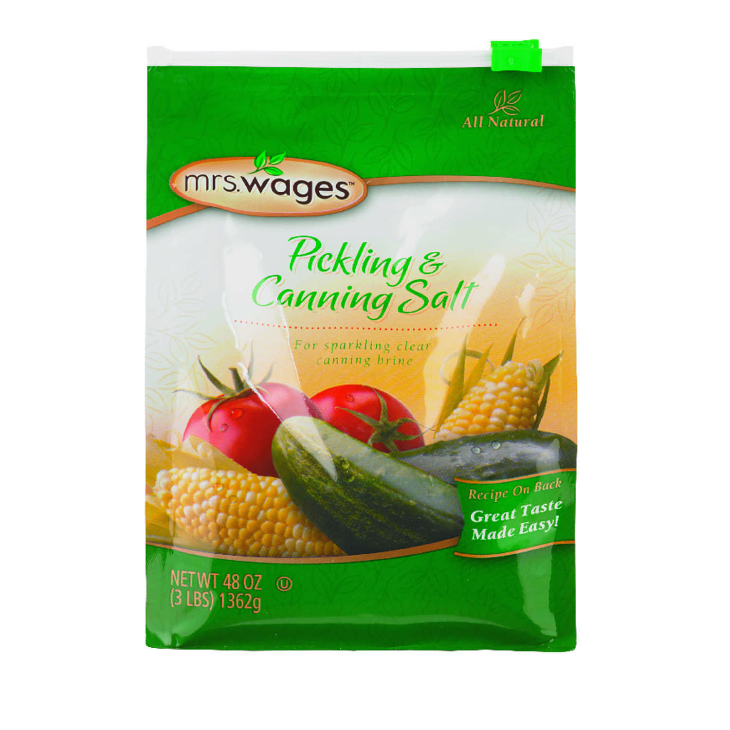 Mrs. Wages  Pickling and Canning Salt  48  1 pk