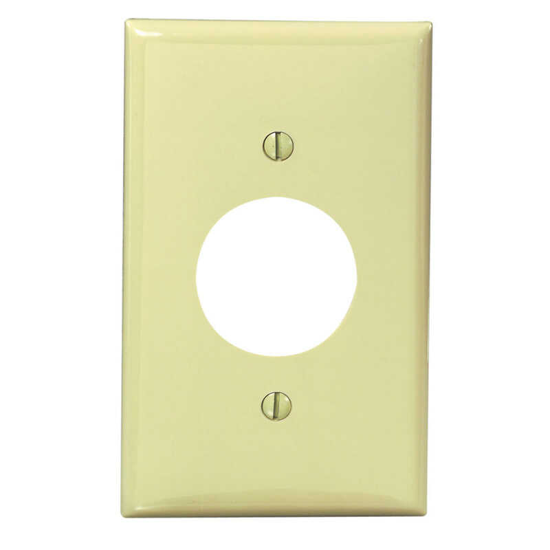 Leviton  Ivory  1 gang Outlet  Nylon  1 pk Wall Plate