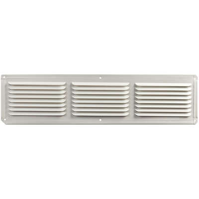 Master Flow  4 in. H x 16 in. W x 16 in. L Powder-Coated  White  Aluminum  Undereave Vent