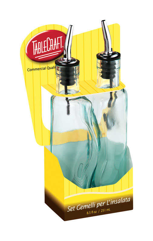 Tablecraft  Clear  Oil and Vinegar Set w/Pourer