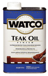 Watco  Rust-Oleum  Transparent  Teak  Oil-Based  Teak Oil  1 qt.