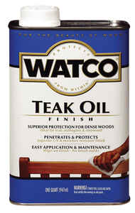 Watco  Transparent  Teak  Teak Oil  1 qt.