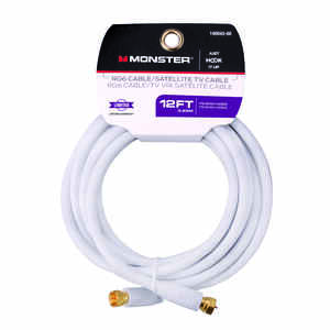 Monster Cable  Just Hook It Up  12 ft. Video Coaxial Cable