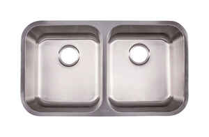 Kindred  Stainless Steel  Undermount  32-1/2 in. W x 18-1/2 in. L Kitchen Sink