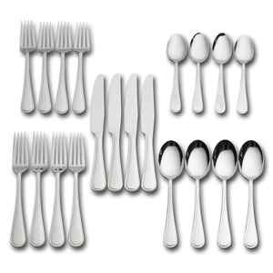 Pfaltzgraff  Silver  Stainless Steel  Classic Thread Design  Flatware Set  20 pk