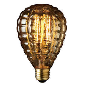 Globe  Granada  40 watts G40  Decorative  Incandescent Bulb  E26 (Medium)  Amber  1 pk