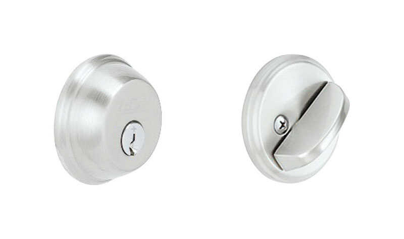 Schlage  Satin Chrome  Zinc  Single Cylinder Deadbolt