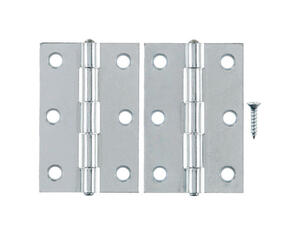 Ace  3 in. L Zinc-Plated  Steel  Narrow Hinge  2 pk