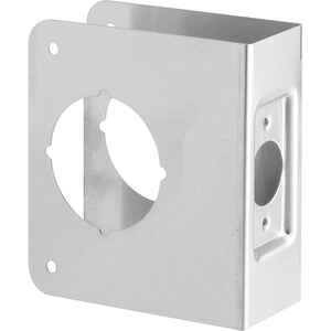 Prime-Line  4.5 in. H x 3.875 in. L Brushed Stainless Steel  Stainless Steel  Recessed Door Reinforc