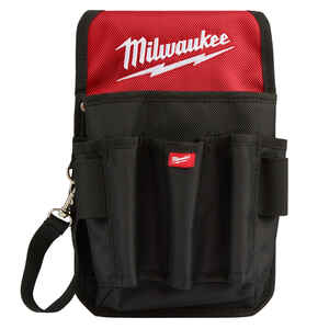 Milwaukee  6.7 in. W x 10.75 in. H Ballistic Nylon  Utility Pouch  9 pocket Black/Red  Red/Black  1