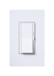 Lutron  Diva  White  600 watts Slide  Dimmer Switch  1 pk