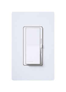 Lutron  Diva  White  Slide  Dimmer Switch  1  600 watts