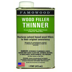 Famowood  Clear  Wood Filler Solvent  1 pt.