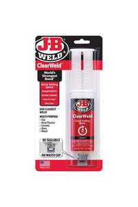J-B Weld  Clear Weld  High Strength  Gel  Automotive Epoxy  0.85 oz.