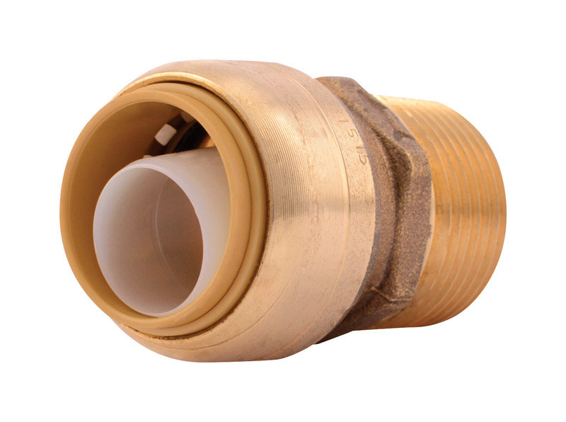 SharkBite  3/4 in. Dia. x 3/4 in. Dia. x 1.9 in. L IPS  Male Connector  Brass