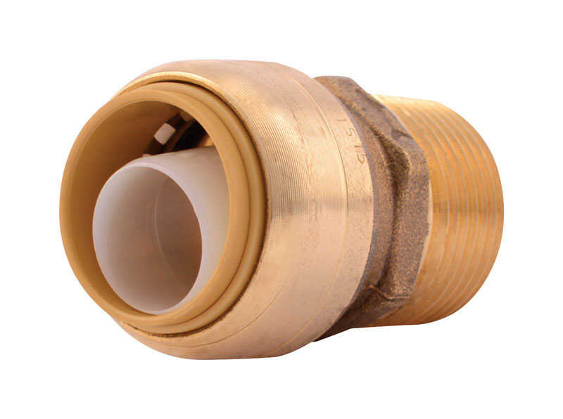 SharkBite  Push to Connect 3/4 in. IPS   x 3/4 in. Dia. Push  Brass  Adapter