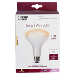 Feit Electric  BR30  E26 (Medium)  Smart WiFi LED Bulb  Soft White  65 Watt Equivalence 1 pk
