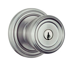 Brinks Push Pull Rotate Barrett Satin Nickel Single Cylinder Lock ANSI Grade 2 KW1 1.75 in.