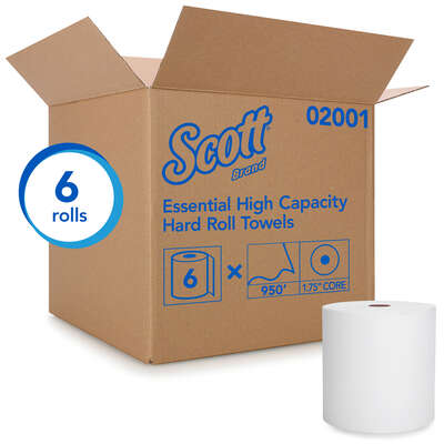 Scott  Essential  Hard Roll Towels  6 pk