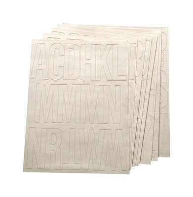 Hy-Ko 3 in. White Vinyl Self-Adhesive Letter and Number Set 0-9, A-Z 184 pc.