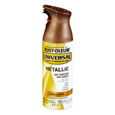 Rust-Oleum  Universal  Aged Copper  Metallic Spray Paint  11 oz.
