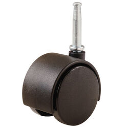 Shepherd  1-5/8 in. Dia. Swivel Nylon  Twin Wheel Caster with Stem  40 lb. 2 pk