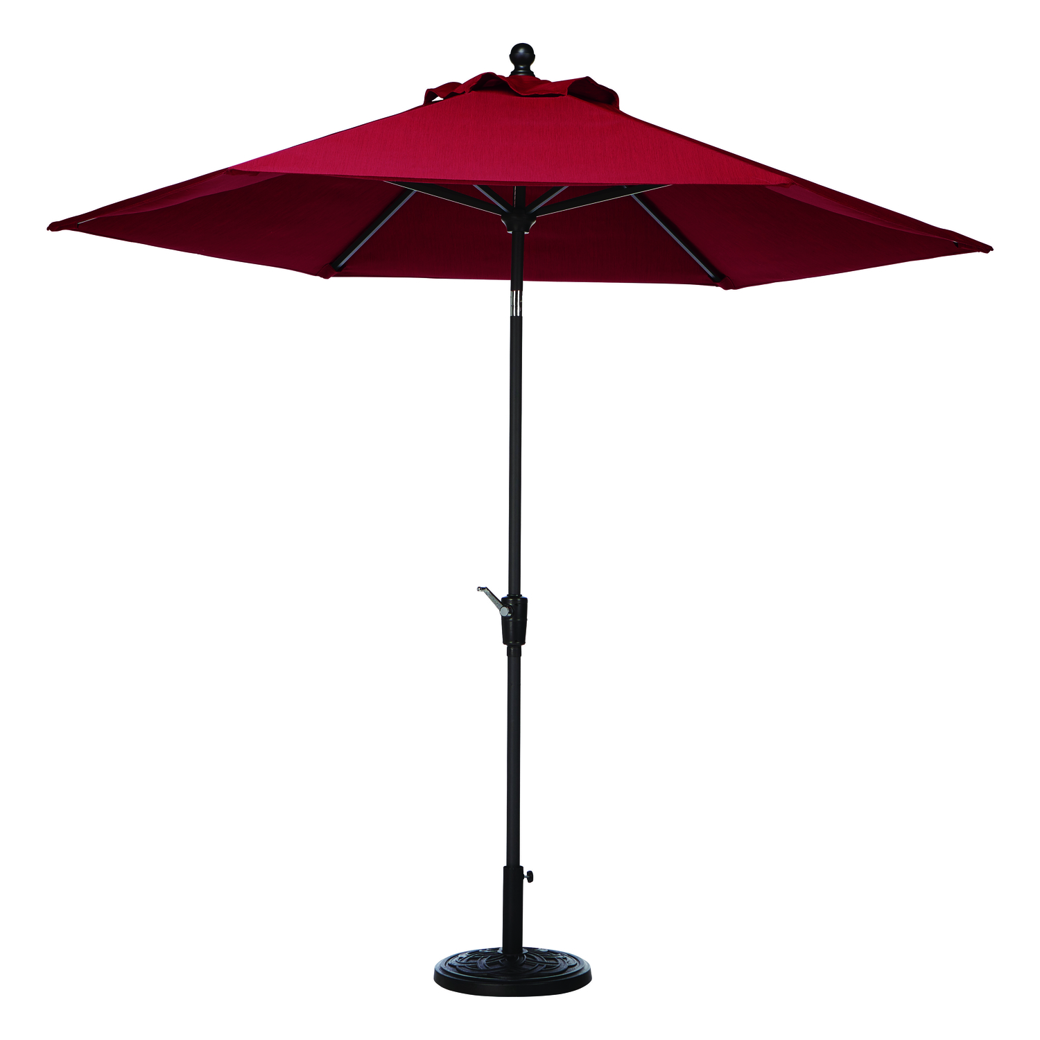 Tiltable Red Patio Umbrella - Living Accents New Castle 9 Ft. Tiltable Red Patio Umbrella - Ace
