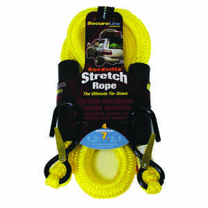 Cordzilla  Secureline  Yellow  Bungee Cord  4 ft. L x 8 mm  400 lb. 1 pk