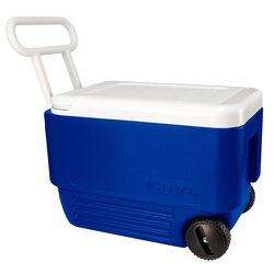 Igloo  Wheelie Cool  Cooler  38 qt. Blue