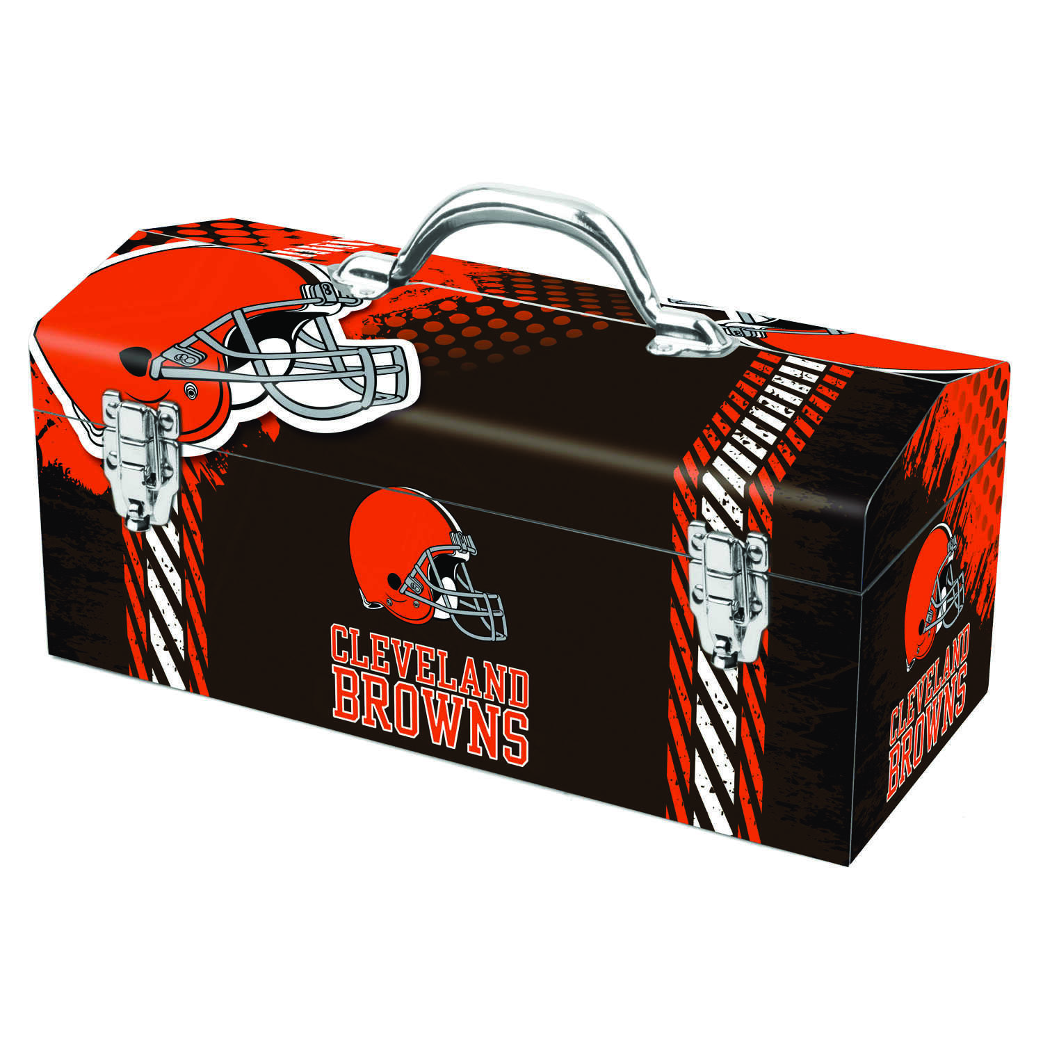 Sainty International  16.25 in. Steel  7.1 in. W x 7.75 in. H Cleveland Browns  Art Deco Tool Box