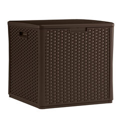 Suncast  Resin  26-3/4 in. H x 26-1/4 in. W x 27.5 in. D Brown  Outdoor Storage Cube