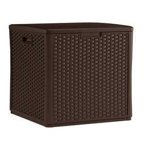 Suncast  Plastic  26-3/4 in. H x 26-1/4 in. W x 27.5 in. D Brown  Outdoor Storage Cube