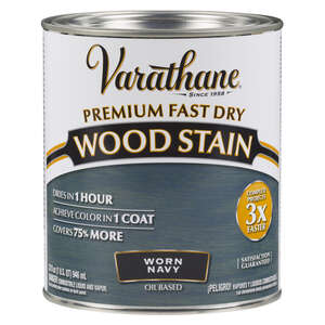 Varathane  Premium Fast Dry  Semi-Transparent  Worn Navy  Wood Stain  1 qt.