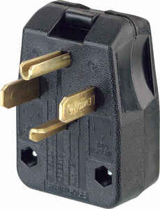 Leviton  Commercial  Thermoplastic  Angle Blade  Plug  14-30P/14-50P  14-6 AWG 3 Pole 4 Wire  Boxed