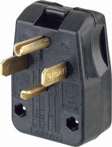 Leviton  Commercial  Thermoplastic  Angle Blade  Plug  14-30P/14-50P  14-6 AWG 3 Pole 4 Wire