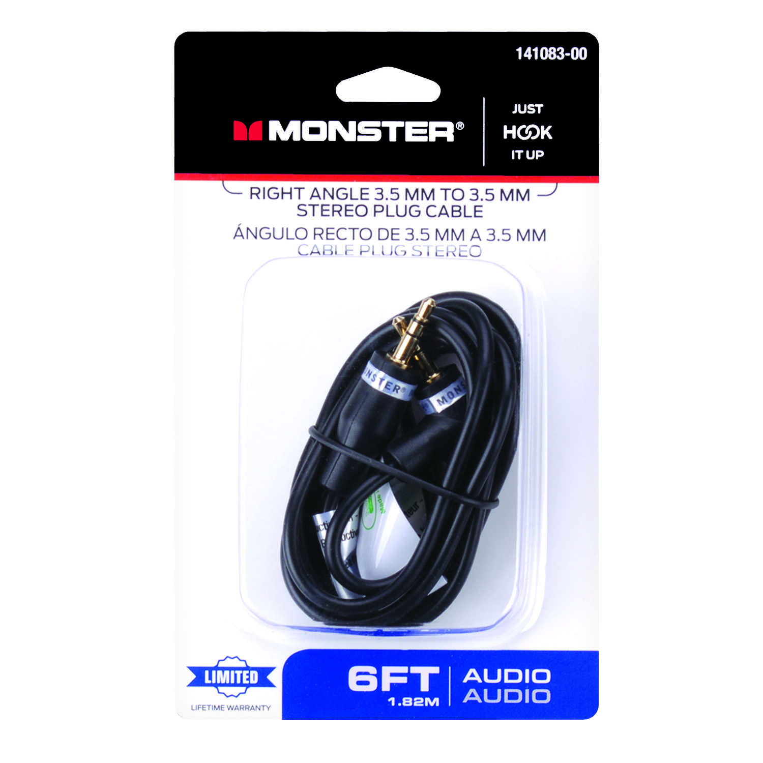 Monster Cable Just Hook It Up 6 ft. L Stereo Plug Cable 3.5 mm - Ace ...