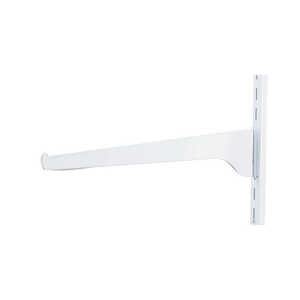 Knape & Vogt  White  Steel  Regular Duty  Bracket  2.5 in. H x 12 in. L 160 lb.