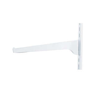 Knape & Vogt  White  White  Steel  16 Ga. Regular Duty  Bracket  2.5 in. H x 0.5 in. W x 12 in. L