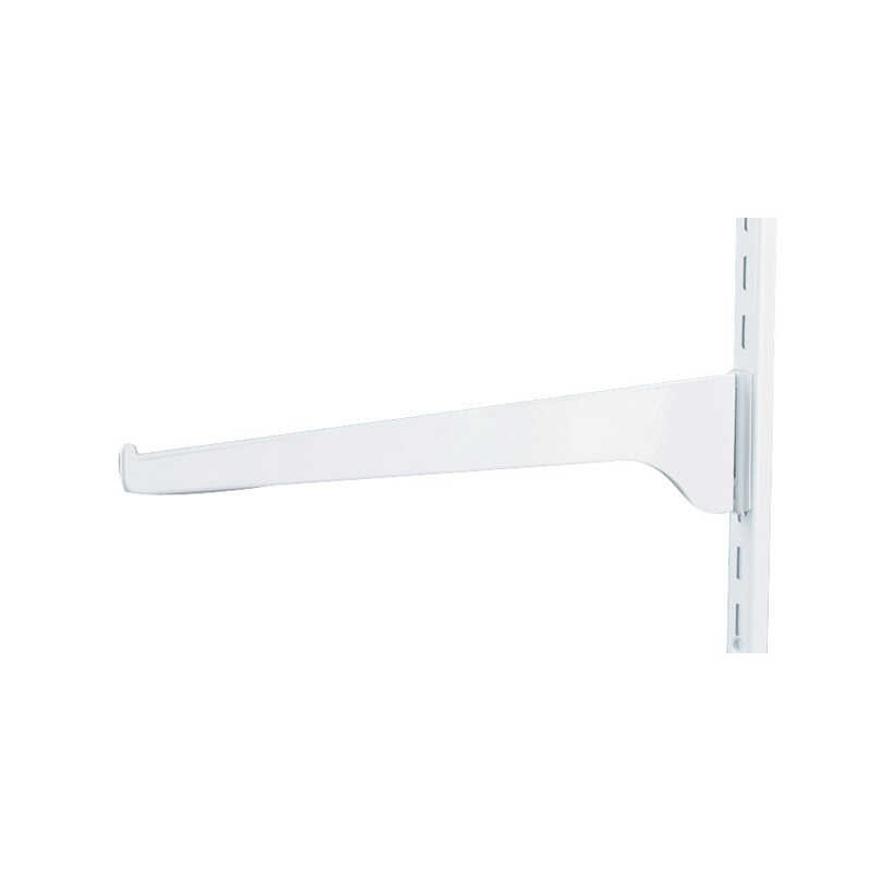 Knape & Vogt  White  Steel  Regular Duty  Bracket  12 in. L 160 lb.