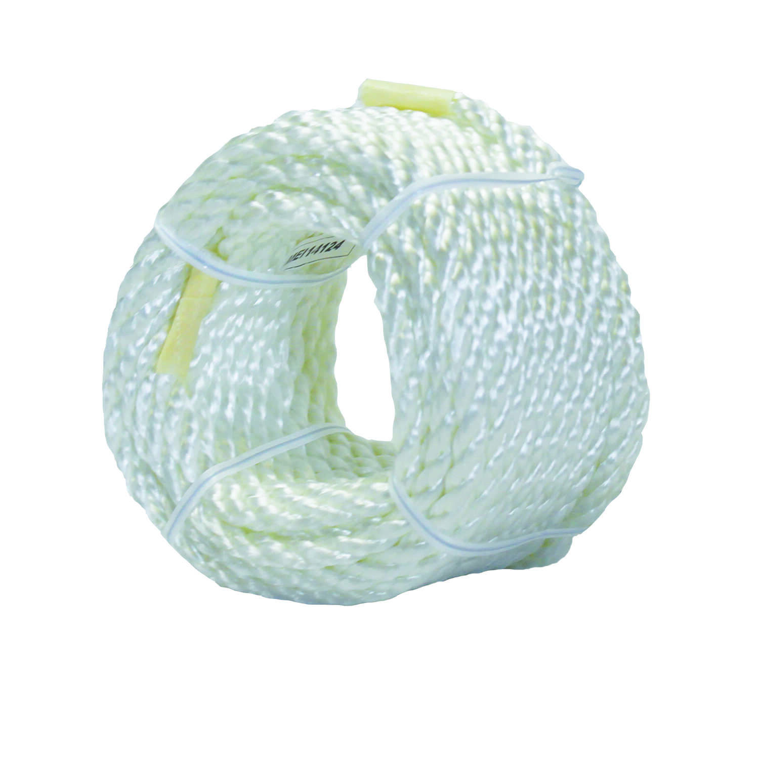Ace  1/4 in. Dia. x 50 ft. L Twisted  Nylon  White  Rope