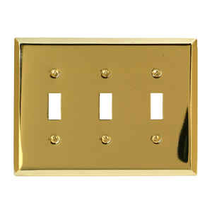 Amerelle  3 gang Stamped Steel  Wall Plate  1 pk Toggle