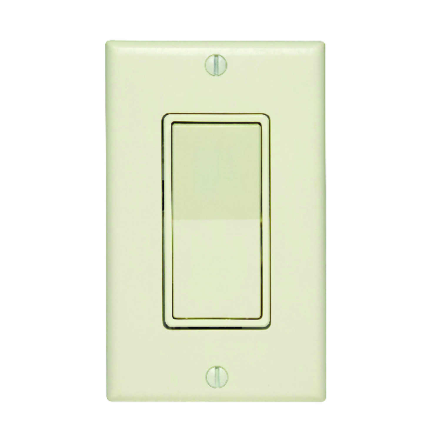 Leviton  15 amps 15 amps Rocker  1 pk Light Almond  Switch