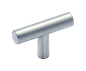 Amerock  Traditional  T-Shape  Furniture Knob  1-1/4 in. Dia. 35.052 mm Stainless Steel  1 pk